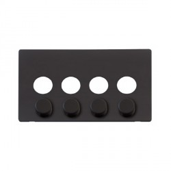 Click Definity SCP244BK 4 Gang Dimmer Switch Cover Plate in Black