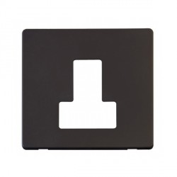 Click Definity SCP251BK Fused Connection Unit with Switch Cover Plate in Black