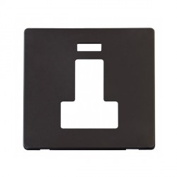 Click Definity SCP252BK Fused Connection Unit with Switch and Neon Cover Plate in Black