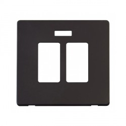 Click Definity SCP324BK Sink and Bath Switch with Neon Cover Plate in Black