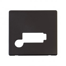 Click Definity SCP350BK Lockable Fused Connection Unit with Flex Outlet Cover Plate in Black
