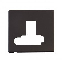 Click Definity SCP351BK Lockable Fused Connection Unit with Switch and Flex Outlet Cover Plate in Black