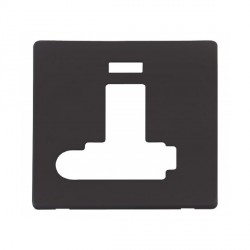 Click Definity SCP352BK Lockable Fused Connection Unit with Switch, Flex Outlet and Neon Cover Plate in Black