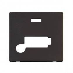 Click Definity SCP353BK Lockable Fused Connection Unit with Flex Outlet and Neon Cover Plate in Black
