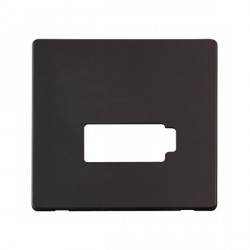 Click Definity SCP450BK Lockable Fused Connection Unit Cover Plate in Black