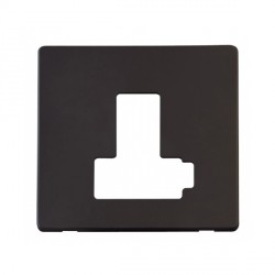 Click Definity SCP451BK Lockable Fused Connection Unit with Switch Cover Plate in Black