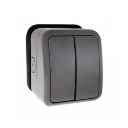 Click Aquip66 2 Gang Weatherproof Switch Enclosure Only