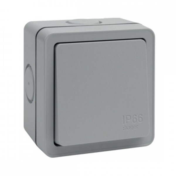 Buy Hager Sollysta Wxpps12 10ax 1 Gang 2 Way Ip66 Switch