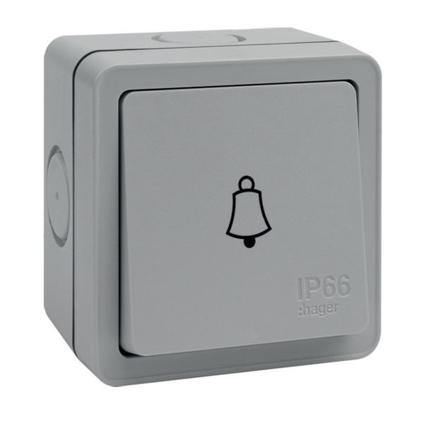 Hager Sollysta 10ax 1 Gang Ip66 Press Bell Switch At Uk