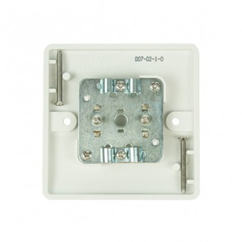 Click Mode Twin White PVC Coaxial Socket