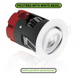 Aurora Lighting m10 8.5W 3000K Dimmable Adjustable LED Downlight with Satin Nickel Bezel
