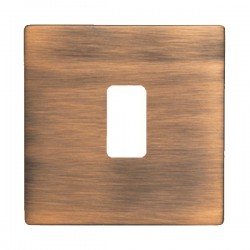 Hamilton Hartland CFX Copper Bronze 1 Gang Grid Fix Aperture Plate with Grid