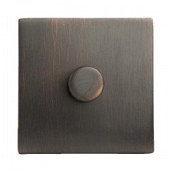 Hamilton Hartland CFX Etrium Bronze 1 gang 200VA 2 Way Leading Edge Push On/Off Inductive Dimmer