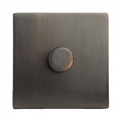 Hamilton Hartland CFX Etrium Bronze 1 gang 300VA 2 Way Leading Edge Push On/Off Inductive Dimmer