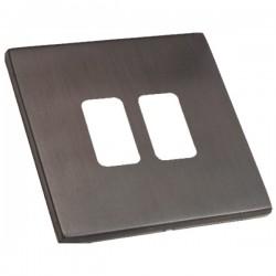 Hamilton Hartland CFX Etrium Bronze 2 Gang Grid Fix Aperture Plate with Grid