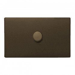 Hamilton Hartland CFX Richmond Bronze 1 gang 1000W 2 Way Leading Edge Push On/Off Resistive Dimmer