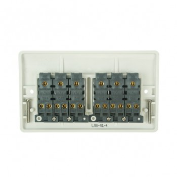 Click Mode 6 Gang White PVC Plate Switch