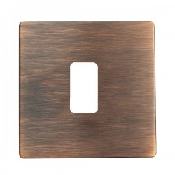 Hamilton Sheer CFX Copper Bronze 1 Gang Grid Fix Aperture Plate with Grid