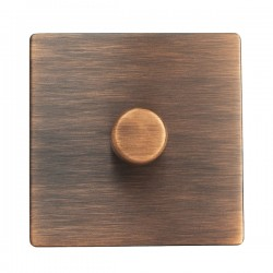 Hamilton Sheer CFX Copper Bronze 1 gang 200VA 2 Way Leading Edge Push On/Off Inductive Dimmer