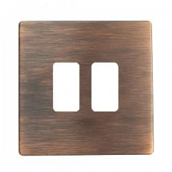 Hamilton Sheer CFX Copper Bronze 2 Gang Grid Fix Aperture Plate with Grid