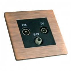 Hamilton Sheer CFX Copper Bronze Non-Isolated TV+FM+SAT Triplexer 1in/3out with Black Insert