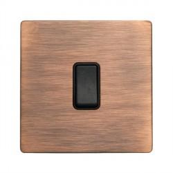 Hamilton Sheer CFX Copper Bronze 1 gang 10AX Intermediate Rocker with Copper Bronze Insert with Black Surround