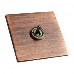 Hamilton Sheer CFX Copper Bronze 1 gang 20AX Intermediate Toggle with Black Nickel Insert