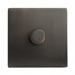 Hamilton Sheer CFX Etrium Bronze 1 gang 200VA 2 Way Leading Edge Push On/Off Inductive Dimmer