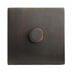 Hamilton Sheer CFX Etrium Bronze 1 gang 300VA 2 Way Leading Edge Push On/Off Inductive Dimmer