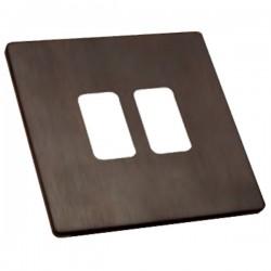 Hamilton Sheer CFX Etrium Bronze 2 Gang Grid Fix Aperture Plate with Grid