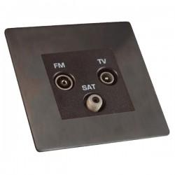 Hamilton Sheer CFX Etrium Bronze Non-Isolated TV+FM+SAT Triplexer 1in/3out with Black Insert