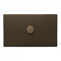 Hamilton Sheer CFX Richmond Bronze 1 gang 1000W 2 Way Leading Edge Push On/Off Resistive Dimmer