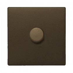 Hamilton Sheer CFX Richmond Bronze 1 gang 600W 2 Way Leading Edge Push On/Off Resistive Dimmer