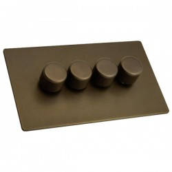 Hamilton Sheer CFX Richmond Bronze 4 gang 400W 2 Way Leading Edge Push On/Off Resistive Dimmer
