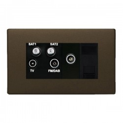 Hamilton Sheer CFX Richmond Bronze Non-Isolated TV+FM+SAT1+SAT2 Quadplexer 2in/4out +TVF+TCS with Black Insert