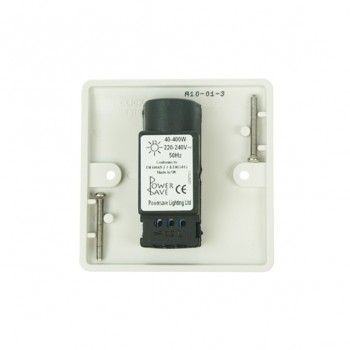 Click Mode Single 400watt 2 Way White PVC Inductive Dimmer Switch
