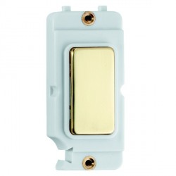 Hamilton Grid Fix Insert Blank Module Polished Brass/White with White Insert