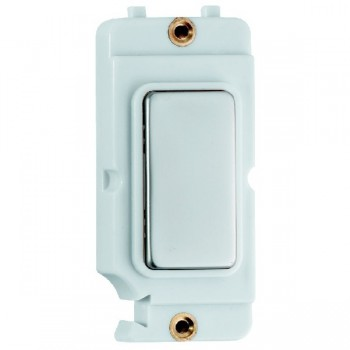 Hamilton Grid Fix Insert Blank Module Pearl Oyster/White with White Insert