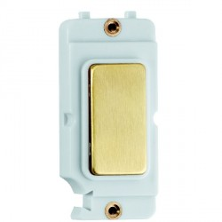 Hamilton Grid Fix Insert Blank Module Satin Brass/White with White Insert