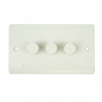 Click Mode 3 Gang 250watt 2 Way White PVC Inductive Dimmer Switch