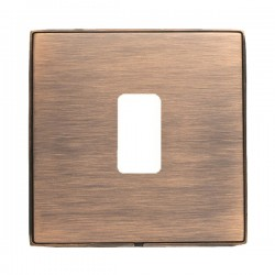 Hamilton Linea-Duo CFX Copper Bronze with Copper Bronze Frame 1 Gang Grid Fix Aperture Plate with Grid