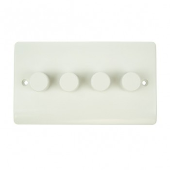 Click Mode 4 Gang 250watt 2 Way White PVC Inductive Dimmer Switch