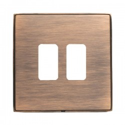Hamilton Linea-Duo CFX Copper Bronze with Copper Bronze Frame 2 Gang Grid Fix Aperture Plate with Grid
