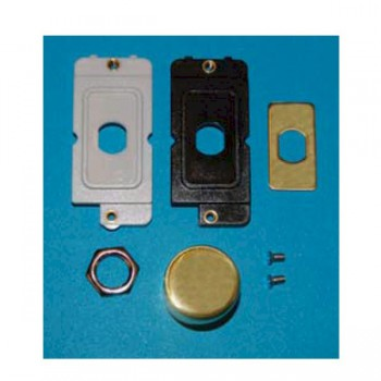 Hamilton Grid Fix Dimmer Kit incl. Knob and Inlays Polished Brass with Polished Brass Insert