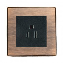 Hamilton Linea-Duo CFX Copper Bronze with Copper Bronze Frame 1 gang 15A 110V AC American Unswitched Socket