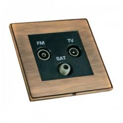 Hamilton Linea-Duo CFX Copper Bronze with Copper Bronze Frame Non-Isolated TV+FM+SAT Triplexer 1in/3out