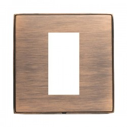 Hamilton Linea-Duo CFX Copper Bronze with Copper Bronze Frame Single Plate complete with 1 EuroFix Aperture 25x50mm and Grid