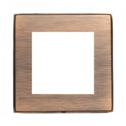 Hamilton Linea-Duo CFX Copper Bronze with Copper Bronze Frame Single Plate complete with 2 EuroFix Apertures 50x50mm and Grid