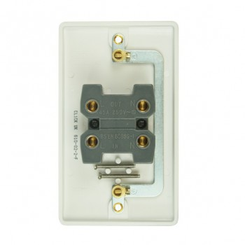Click Mode Double 45amp White PVC Cooker Switch