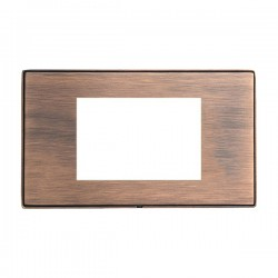 Hamilton Linea-Duo CFX Copper Bronze with Copper Bronze Frame Double Plate complete with 3 EuroFix Apertures 75x50mm and Grid
